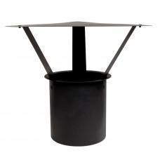 Flexible Flue Liner Cowl  4''/100mm Black