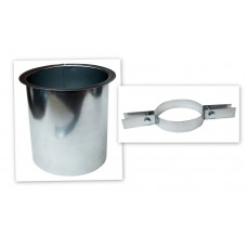 "Flexible Flue Liner Top Insert Sleeve With Clamp For 4"" Flexible pipe"